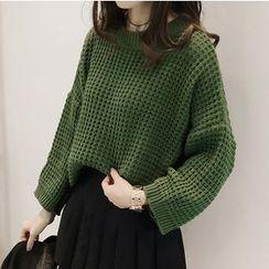 Little V - 华夫纹针织毛衣