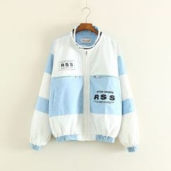 Mushi - Striped Zip Light Jacket