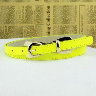 Cuteberry - Metal-Accent Slim Belt