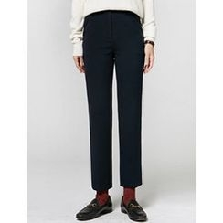FROMBEGINNING - Flat-Front Straight-Cut Pants