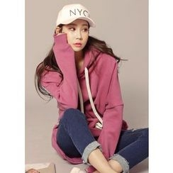 J-ANN - Brushed-Fleece Hooded Pullover
