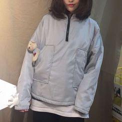MATO - Hooded Half Zip Jacket