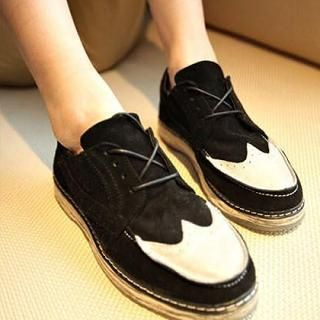 JUN.LEE - Perforated Panel Casual Shoes