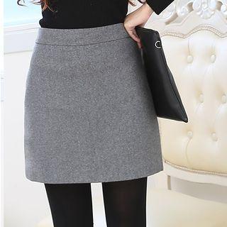 LITI - Woolen A Line Skirt