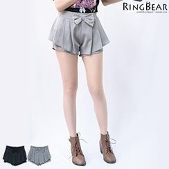RingBear - Bow Front Pleated Shorts