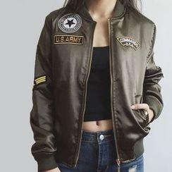 Neeya - Applique Bomber Jacket