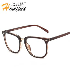 Koon - Metal Nose Bridge Square Glasses