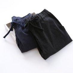 布丁坊 - 抽繩牛仔褲