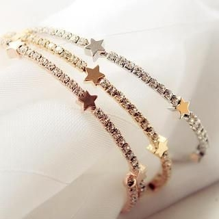 Gossip Girl - Rhinestone Star Bangle