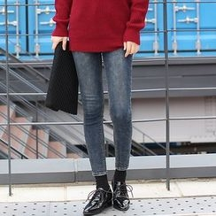 Seoul Fashion - Washed Straight-Cut Jeans
