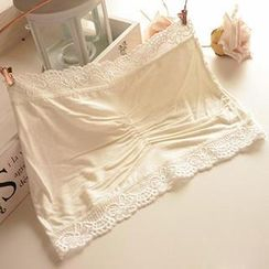 Miya - Lace-Trim Bandeau Top