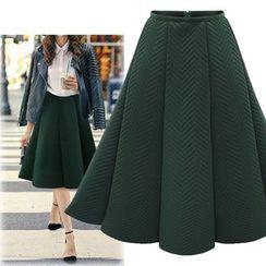 Coronini - 纯色荷叶裙