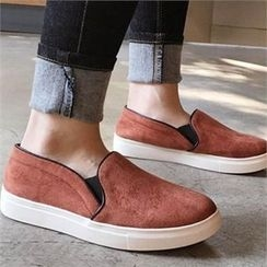 QNIGIRLS - Faux-Suede Slip-Ons