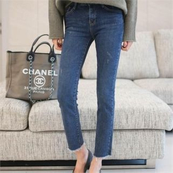YOOM - Brushed Fleece Straight-Cut Jeans