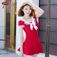 INSTIL - Sailor Collar Swimdress