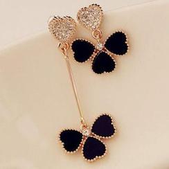 Best Jewellery - Set: Rhinestone Shamrock Earrings