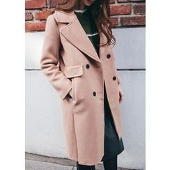 Chlo.D.Manon - Wide-Lapel Double-Breasted Coat