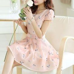 NINETTE - Short-Sleeve Floral Dress