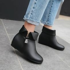 Pretty in Boots - Hidden Wedge Ankle Boots