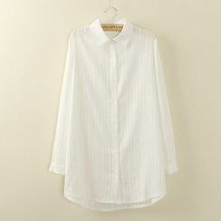 Tangi - Embroidered Striped Shirt
