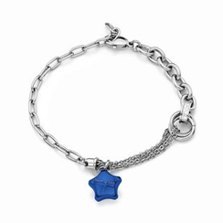 Kenny & co. - Ip Blue Lucky Star Steel Bracelet