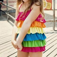 Nadia - Kids Tiered Swimdress
