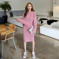QNIGIRLS - Set: Knit Sweater + Skirt