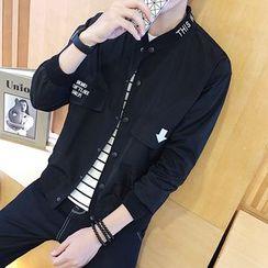 Alvicio - Stand-collar Letter Jacket