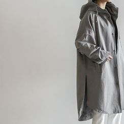 NANING9 - Hooded Drop-Shoulder Parka
