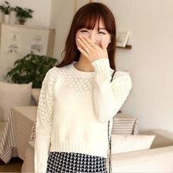 Poppy Love - Pointelle Knit Sweater