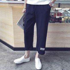 Pinth - Drawstring Straight Cut Pants