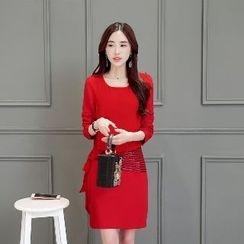 Romantica - Long-Sleeve Paneled Dress