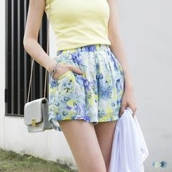 OrangeBear - Floral Chiffon Shorts