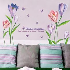 LESIGN - Floral Print Wall Sticker