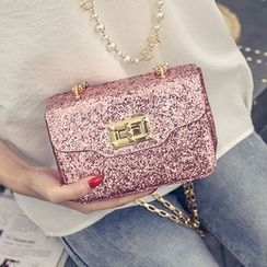 Clair Fashion - Glitter Chained Shoulder Bag