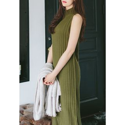 REDOPIN - Sleeveless Ribbed Knit Dress