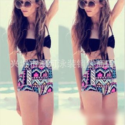 Rivergirl - Patterned High-Waist Bikini