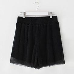 Meimei - Accordion Chiffon Shorts
