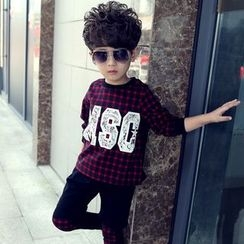 Famula - Set: Kids Check Top + Pants
