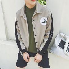 子俊 - 字母双色夹克