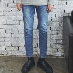 MITOSHOP - Washed Tapered Jeans