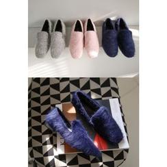 PPGIRL - Faux-Fur Slip-On Shoes