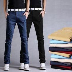 Kuziman - 純色直腿褲