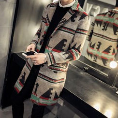 Better Man - Patterned Woolen Long Coat