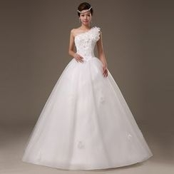 Gracia - One-Shoulder A-Line Wedding Dress
