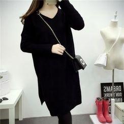 Emeline - V-Neck Long Sweater