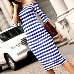 Everose - Striped Sheath Dress