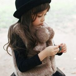 Fluff Snowy - Kids Faux-Fur Pompom Vest