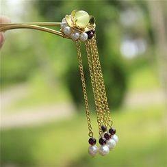 Rivermoon - Beaded Dangling Hair Pin