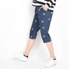 MUKOKO - Pinstripe Capri Jeans